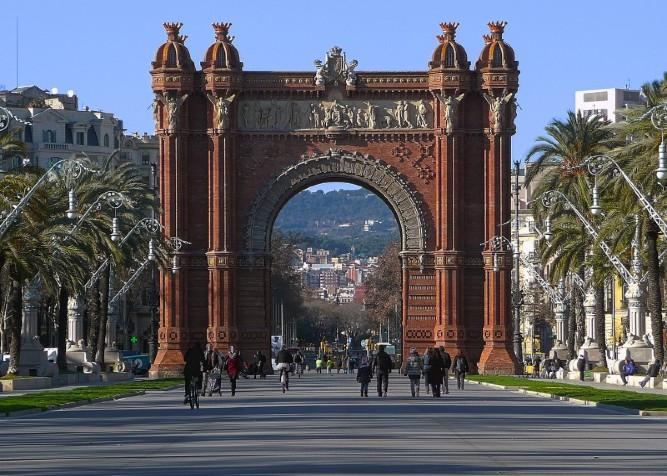 Arc de triomf nel quartiere La Ribera di Barcellona