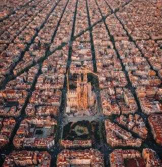 Barcellona dall'alto