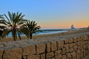 Barcellona in estate: la spiaggia