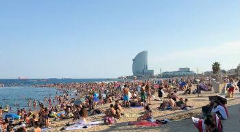 La spiaggia di Barceloneta