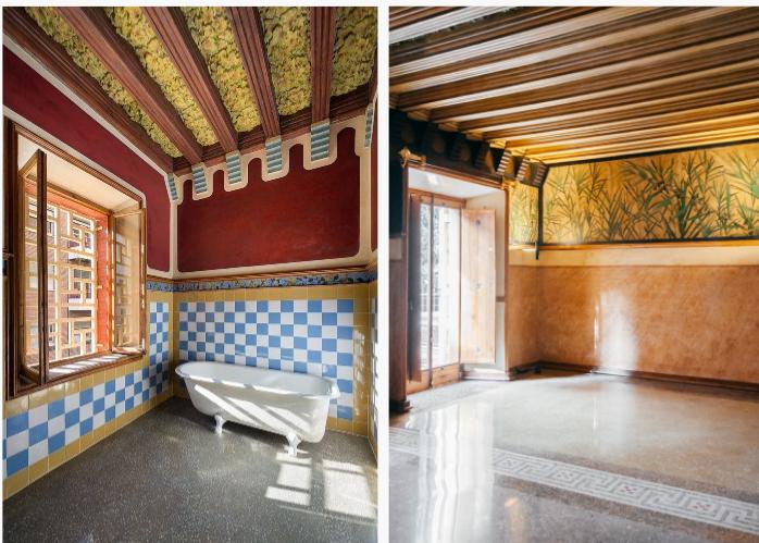 Bagno e camera da letto padronale, Casa Vicens