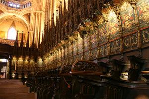 Le sedute del coro, Cattedrale Barcellona