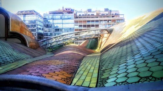 Dettagli del tetto del Mercato di Santa Caterina