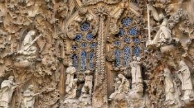 Particolare della facciata della Natività, Sagrada Familia