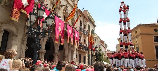 I Castellers durante la Festa de la Mercé