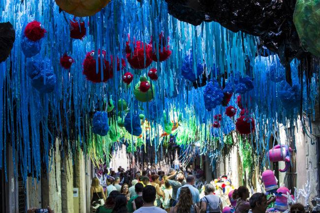 Festes de Gracia, agosto, Barcellona