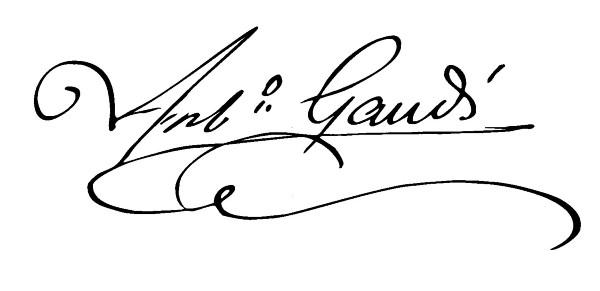 Firma Gaudì