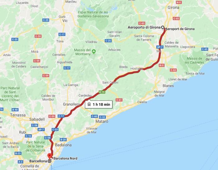 Da Girona a Barcellona in bus