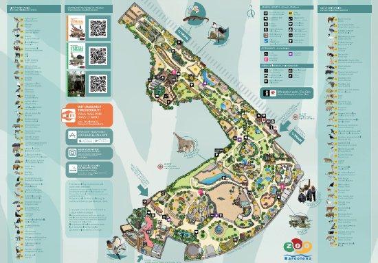Mappa del Parco di Barcellona
