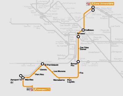 Metro dall'aeroporto di Barcellona