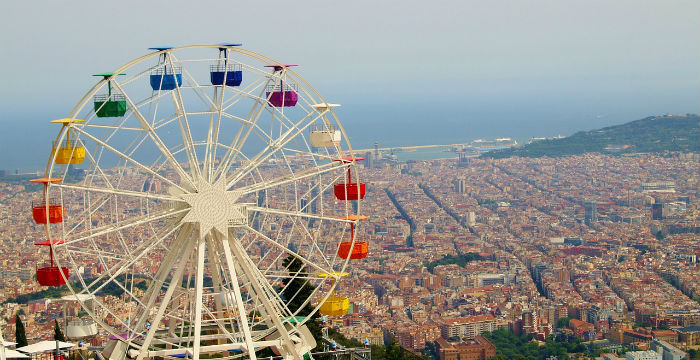 Panorama su Barcellona dal Tibidabo