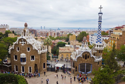 L'ingresso di Parc Guell, Barcellona