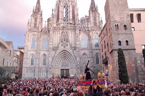Processione per Pasqua a Barcellona