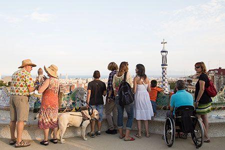 Turisti disabili a Barcellona