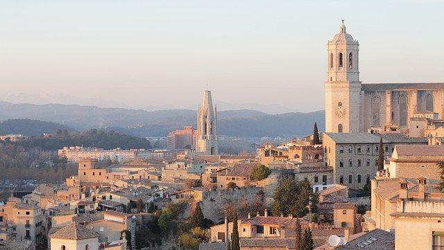 Panorama di Girona dall'alto