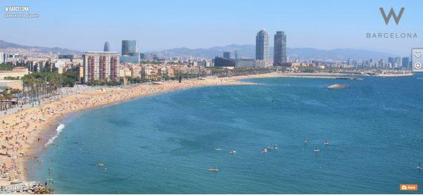 Webcam Barcellona Spiaggia